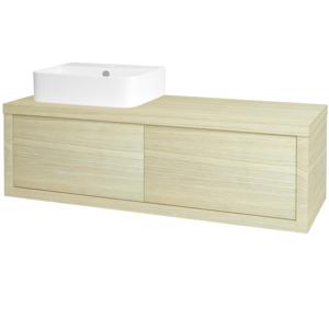 Dřevojas Dřevojas - Koupelnová skříň STORM SZZ2 120 (umyvadlo Joy 3) - D04 Dub / D04 Dub / Pravé (218737P)