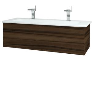 Dřevojas Dřevojas - Koupelnová skříň VARIANTE SZZ 120 (umyvadlo Euphoria) - D06 Ořech / D06 Ořech (160944U)