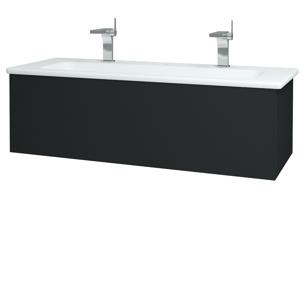 Dřevojas Dřevojas - Koupelnová skříň VARIANTE SZZ 120 (umyvadlo Euphoria) - L03 Antracit vysoký lesk / L03 Antracit vysoký lesk (160999U)