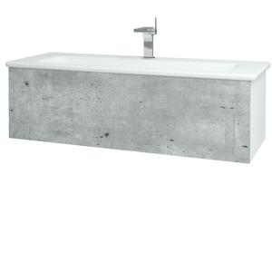 Dřevojas Dřevojas - Koupelnová skříň VARIANTE SZZ 120 (umyvadlo Euphoria) - N01 Bílá lesk / D15 Nebraska (190422)