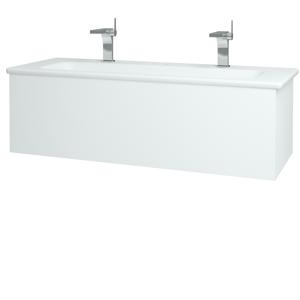 Dřevojas Dřevojas - Koupelnová skříň VARIANTE SZZ 120 (umyvadlo Euphoria) - N01 Bílá lesk / L01 Bílá vysoký lesk (161118U)