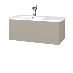 Dřevojas Dřevojas - Koupelnová skříň VARIANTE SZZ 90 (umyvadlo Euphoria) - M05 Béžová mat / M05 Béžová mat (189679)