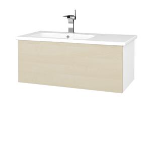 Dřevojas Dřevojas - Koupelnová skříň VARIANTE SZZ 90 (umyvadlo Euphoria) - N01 Bílá lesk / D02 Bříza (189693)