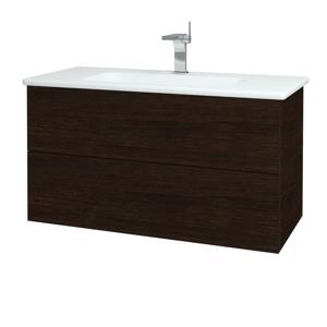 Dřevojas Dřevojas - Koupelnová skříň VARIANTE SZZ2 100 (umyvadlo Euphoria) - D08 Wenge / D08 Wenge (160678)
