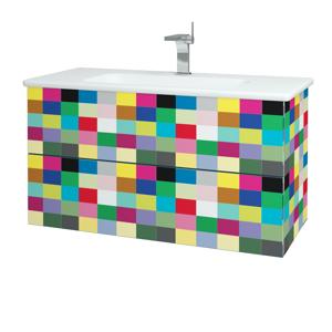 Dřevojas Dřevojas - Koupelnová skříň VARIANTE SZZ2 100 (umyvadlo Euphoria) - IND Individual / IND Individual (160708)