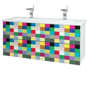 Dřevojas Dřevojas - Koupelnová skříň VARIANTE SZZ2 120 (umyvadlo Euphoria) - N01 Bílá lesk / IND Individual (161385U)