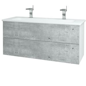 Dřevojas Dřevojas - Koupelnová skříň VARIANTE SZZ2 120 (umyvadlo Euphoria) - N01 Bílá lesk / N06 Lava (190682U)