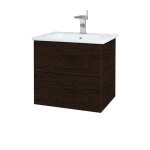 Dřevojas Dřevojas - Koupelnová skříň VARIANTE SZZ2 60 (umyvadlo Euphoria) - D08 Wenge / D08 Wenge (159566)