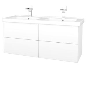 Dřevojas Dřevojas - Koupelnová skříň VARIANTE SZZ4 125 (umyvadlo Harmonia) - N01 Bílá lesk / M01 Bílá mat (194253)