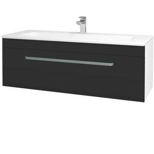 Dřevojas - Koupelnová skříň ASTON SZZ 120 - N01 Bílá lesk / Úchytka T01 / N03 Graphite (200145A)