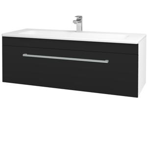 Dřevojas - Koupelnová skříň ASTON SZZ 120 - N01 Bílá lesk / Úchytka T03 / N07 Stone (200169C)