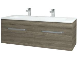 Dřevojas - Koupelnová skříň ASTON SZZ2 120 - D03 Cafe / Úchytka T01 / D03 Cafe (131531AU)