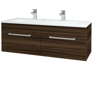 Dřevojas - Koupelnová skříň ASTON SZZ2 120 - D06 Ořech / Úchytka T03 / D06 Ořech (131562CU)