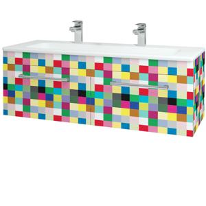Dřevojas - Koupelnová skříň ASTON SZZ2 120 - IND Individual / Úchytka T03 / IND Individual (149307CU)