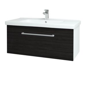 Dřevojas - Koupelnová skříň BIG INN SZZ 100 - N01 Bílá lesk / Úchytka T03 / D14 Basalt (149659C)