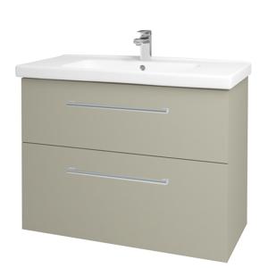 Dřevojas - Koupelnová skříň BIG INN SZZ2 100 - M05 Béžová mat / Úchytka T03 / M05 Béžová mat (200756C)