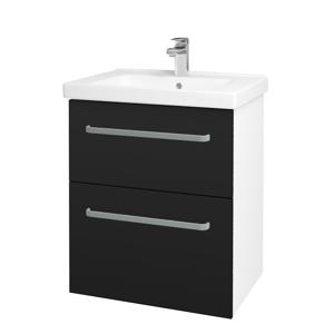 Dřevojas - Koupelnová skříň BIG INN SZZ2 65 - N01 Bílá lesk / Úchytka T01 / N08 Cosmo (200480A)