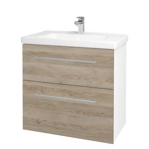Dřevojas - Koupelnová skříň BIG INN SZZ2 80 - N01 Bílá lesk / Úchytka T02 / D17 Colorado (200602B)