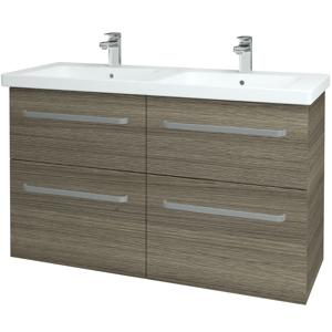 Dřevojas - Koupelnová skříň BIG INN SZZ4 125 - D03 Cafe / Úchytka T01 / D03 Cafe (27653A)