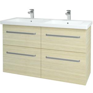 Dřevojas - Koupelnová skříň BIG INN SZZ4 125 - D04 Dub / Úchytka T01 / D04 Dub (27707A)