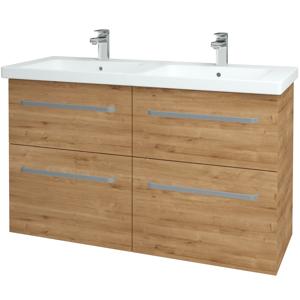 Dřevojas - Koupelnová skříň BIG INN SZZ4 125 - D09 Arlington / Úchytka T01 / D09 Arlington (122683A)