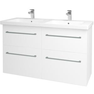 Dřevojas - Koupelnová skříň BIG INN SZZ4 125 - N01 Bílá lesk / Úchytka T03 / M01 Bílá mat (200947C)