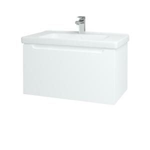 Dřevojas - Koupelnová skříň COLOR SZZ 80 - N01 Bílá lesk / L01 Bílá vysoký lesk (122997)