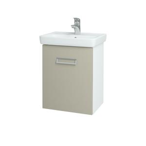 Dřevojas - Koupelnová skříň DOOR SZD 50 - N01 Bílá lesk / L04 Béžová vysoký lesk / Pravé (122812P)