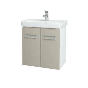 Dřevojas - Koupelnová skříň DOOR SZD2 60 - N01 Bílá lesk / L04 Béžová vysoký lesk (122898)