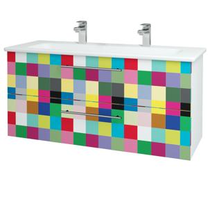 Dřevojas - Koupelnová skříň GIO SZZ2 120 - N01 Bílá lesk / Úchytka T02 / IND Individual (130022BU)