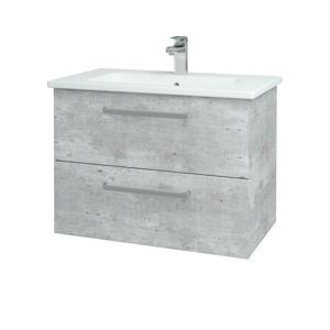 Dřevojas - Koupelnová skříň GIO SZZ2 80 - D01 Beton / Úchytka T01 / D01 Beton (82096A)