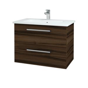 Dřevojas - Koupelnová skříň GIO SZZ2 80 - D06 Ořech / Úchytka T03 / D06 Ořech (82034C)