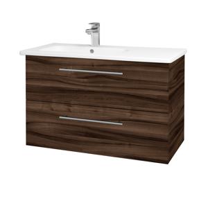Dřevojas - Koupelnová skříň GIO SZZ2 90 - D06 Ořech / Úchytka T02 / D06 Ořech (202354B)