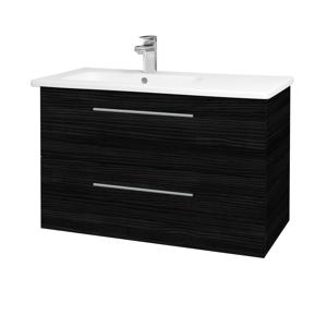 Dřevojas - Koupelnová skříň GIO SZZ2 90 - D14 Basalt / Úchytka T02 / D14 Basalt (202392B)