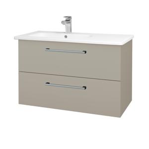 Dřevojas - Koupelnová skříň GIO SZZ2 90 - L04 Béžová vysoký lesk / Úchytka T03 / L04 Béžová vysoký lesk (202453C)