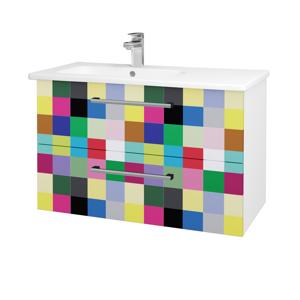 Dřevojas - Koupelnová skříň GIO SZZ2 90 - N01 Bílá lesk / Úchytka T03 / IND Individual (202613C)