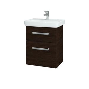 Dřevojas - Koupelnová skříň GO SZZ2 50 - D08 Wenge / Úchytka T01 / D08 Wenge (28186A)