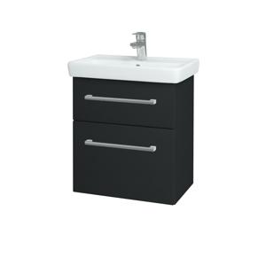 Dřevojas - Koupelnová skříň GO SZZ2 55 - L03 Antracit vysoký lesk / Úchytka T03 / L03 Antracit vysoký lesk (148416C)