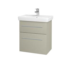 Dřevojas - Koupelnová skříň GO SZZ2 55 - M05 Béžová mat / Úchytka T02 / M05 Béžová mat (204662B)