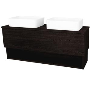 Dřevojas - Koupelnová skříň INVENCE SZZO 125 (2 umyvadla Joy) - D08 Wenge / D08 Wenge (184483)