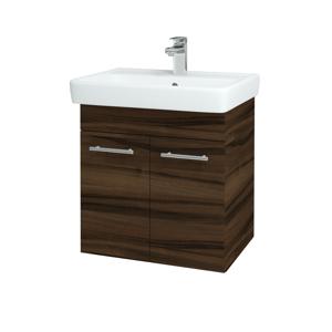 Dřevojas - Koupelnová skříň Q DVEŘOVÉ SZD2 60 - D06 Ořech / Úchytka T01 / D06 Ořech (20579A)