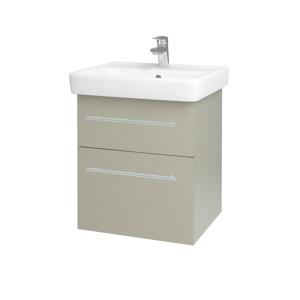 Dřevojas - Koupelnová skříň Q MAX SZZ2 55 - M05 Béžová mat / Úchytka T02 / M05 Béžová mat (198015B)