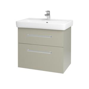 Dřevojas - Koupelnová skříň Q MAX SZZ2 70 - M05 Béžová mat / Úchytka T03 / M05 Béžová mat (198381C)