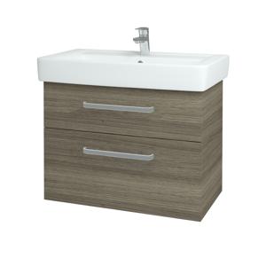 Dřevojas - Koupelnová skříň Q MAX SZZ2 80 - D03 Cafe / Úchytka T01 / D03 Cafe (115654A)