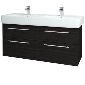 Dřevojas - Koupelnová skříň Q MAX SZZ4 130 - D14 Basalt / Úchytka T02 / D14 Basalt (149215B)