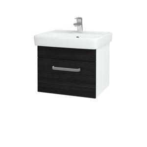 Dřevojas - Koupelnová skříň Q UNO SZZ 55 - N01 Bílá lesk / Úchytka T01 / D14 Basalt (150419A)