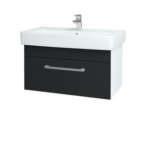 Dřevojas - Koupelnová skříň Q UNO SZZ 80 - N01 Bílá lesk / Úchytka T03 / L03 Antracit vysoký lesk (150907C)