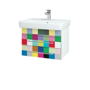 Dřevojas - Koupelnová skříň Q ZÁSUVKOVÉ SZZ2 60 - N01 Bílá lesk / Úchytka T01 / IND Individual (20159A)