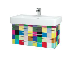 Dřevojas - Koupelnová skříň Q ZÁSUVKOVÉ SZZ2 80 - IND Individual / Úchytka T03 / IND Individual (151911C)