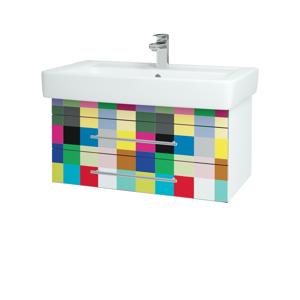 Dřevojas - Koupelnová skříň Q ZÁSUVKOVÉ SZZ2 80 - N01 Bílá lesk / Úchytka T01 / IND Individual (20173A)
